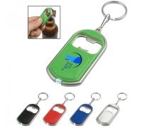 Custom Bottle Opener Keychain with LED Light