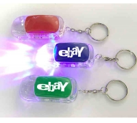 Custom Car Shape LED Flashlight Keychain with 3 Colors