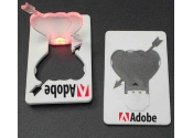 Custom Credit Card Heart Shape LED-White