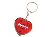 Custom Heart Keychain Flashlights