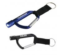 Custom Keychain Flashlight Carabiner with Strap