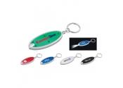 Customized Oval Shaped Flashlight Keychains