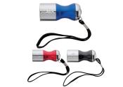 Custom 6 LED Aluminum Flashlights with Wrist Straps