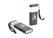 Custom Printed Slim Dual Flashlights Gray