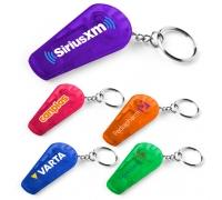 Custom Printed Whistle Key Tag with Flashlights