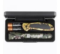 Custom Mini Camo MagLite with Cougar Pocket Knife