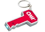Custom Key Shape LED Keychains