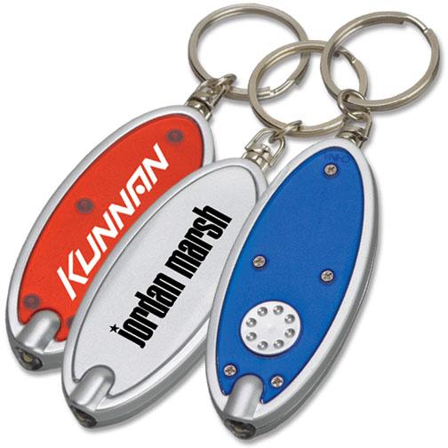 Custom Oval Keychain Flashlights