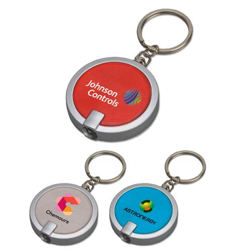 Custom Round Keychain Flashlights