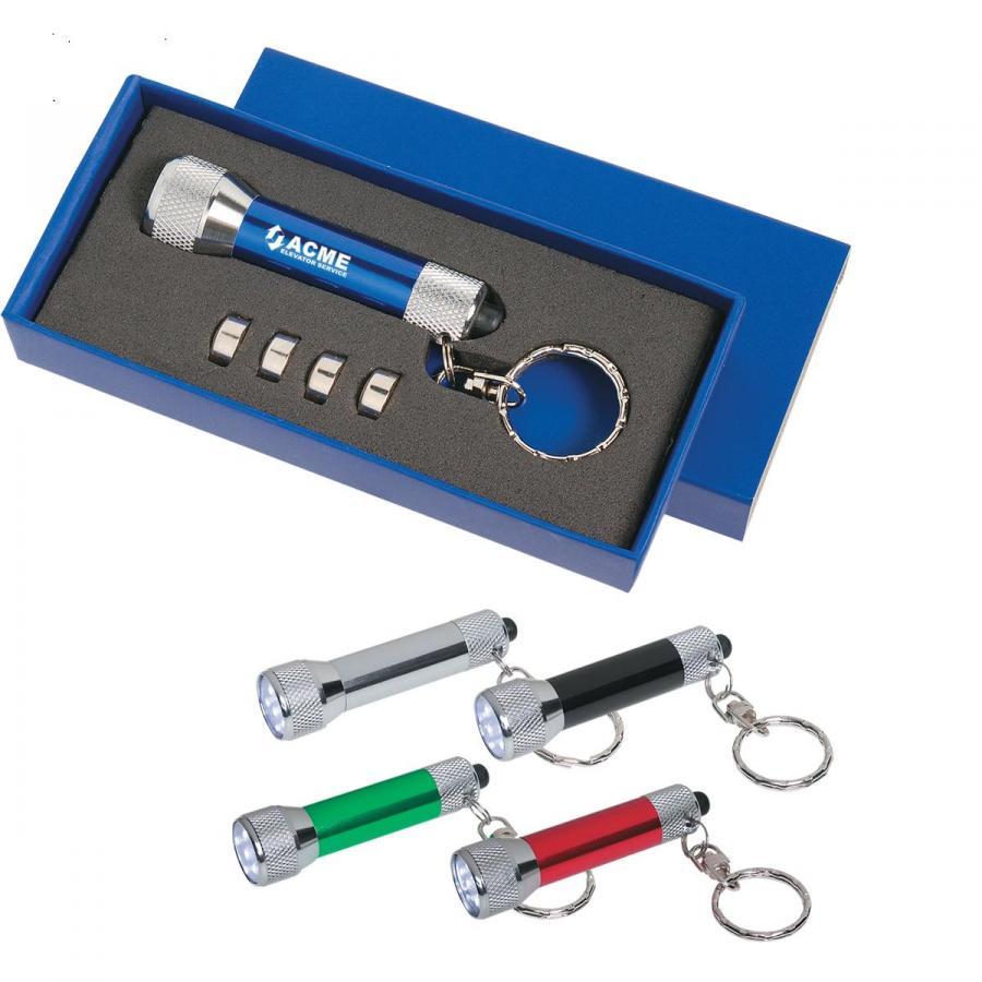 Personalized Aluminum LED Flashlight Keychains
