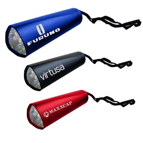 Logo Imprinted 10 LED Aluminum Tri Flashlights