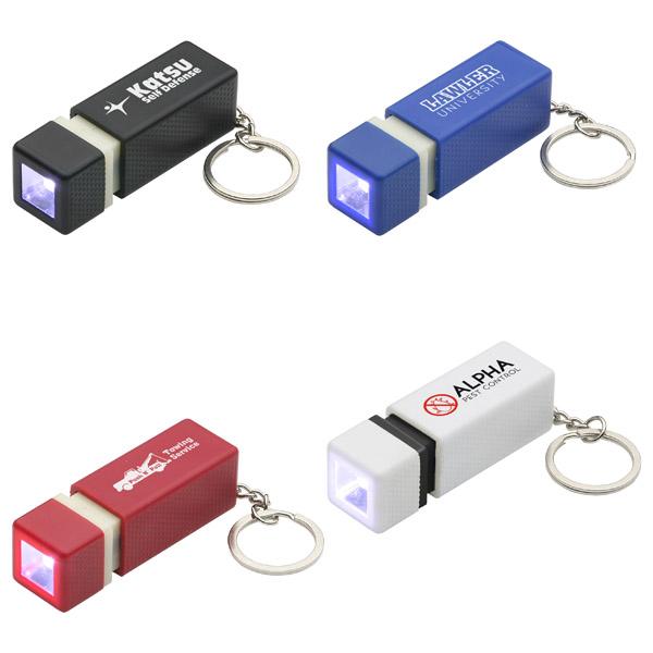 Custom Pull-Lite LED Keychains