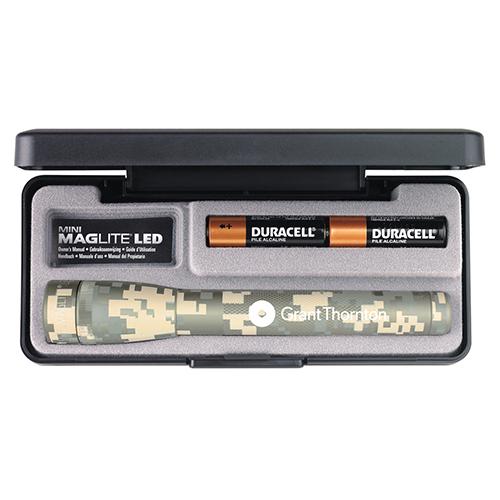 Custom Imprinted 2 AA LED Digital Camouflage Mini Maglite Flashlights